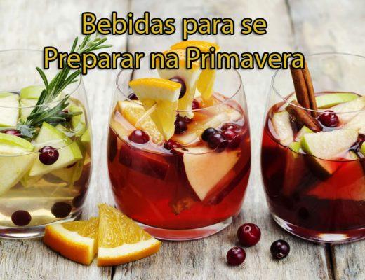 Bebidas para se preparar na Primavera